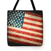 America Flag Tote Bag by Setsiri Silapasuwanchai