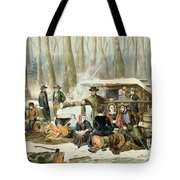 American Forest Scene Maple Sugaring Tote Bag