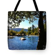 American River Through The Trees Tote Bag