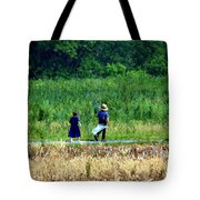 Amish Brother And Sister Tote Bag