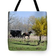 Amish Buggy Late Fall Tote Bag