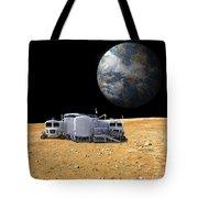 An Artists Depiction Of A Lunar Base Tote Bag