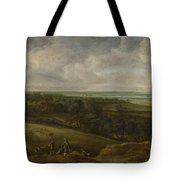 An Extensive River Landscape Tote Bag