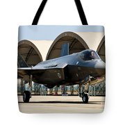 An F-35 Lightning II Taxiing At Eglin Tote Bag
