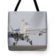 An Fa-18f Super Hornet Taking Tote Bag