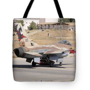 An Israeli Air Force F-16b Netz Taxiing Tote Bag
