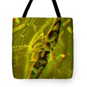 Anaglyph Of Infected Lettuce Leaf Tote Bag