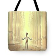 Ancient Alien Angel Tote Bag