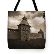 Ancient Walls. Sepia Tote Bag
