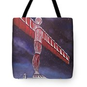 Angel Of The North Christmas Tote Bag