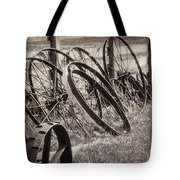 Antique Wagon Wheels I Tote Bag