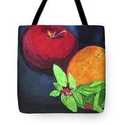 Apple, Orange And Red Basil Tote Bag