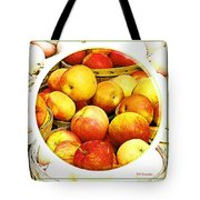 Apples In Wooden Baskets, Still Life Tote Bag