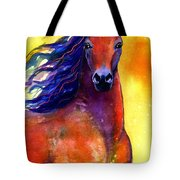Arabian Horse 1 Painting Tote Bag
