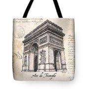 Arc De Triomphe Tote Bag by Debbie DeWitt