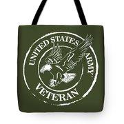 Army Veteran Tote Bag