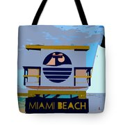 Art Deco Lifeguard Stand Tote Bag