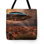 Artists Concept Of Stealth Technology Tote Bag by Mark Stevenson