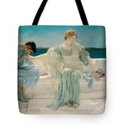Ask Me No More Tote Bag by Sir Lawrence Alma-Tadema
