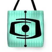 Atomic Shape 1 On Aqua Tote Bag