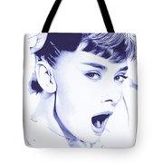 Audrey - Ballpoint Pen Art Tote Bag