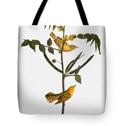 Audubon: Warbler, 1827-38 Tote Bag