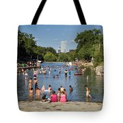 Austinites Love To Lounge In The Refreshing Waters Of Barton Springs Pool To Beat The Sizzling Texas Summer Heat Tote Bag