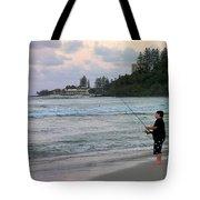 Australia - Fisherman At Greenmount Beach Tote Bag
