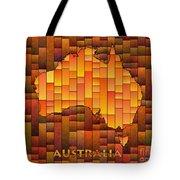 Australia Map Glasa In Orange Tote Bag
