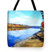 Autumn Afternoon On The Schuykill River Tote Bag