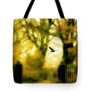 Autumn Graveyard Tote Bag