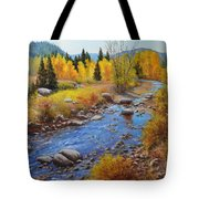 Autumn On The Truckee Tote Bag