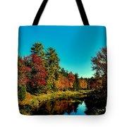 Autumn Splendor On The Moose River Tote Bag