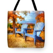 Autumn Splendor Watercolor Tote Bag
