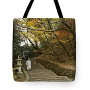 Autumn Stairway Tote Bag