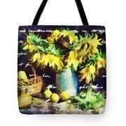 Autumn Sunflowers Tote Bag