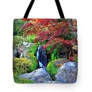 Autumn Waterfall - Digital Art 5x3 Tote Bag
