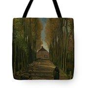 Avenue Of Poplars In Autumn Nuenen, October 1884 Vincent Van Gogh 1853 - 1890 Tote Bag