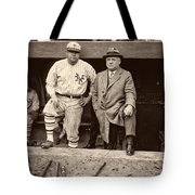 Babe Ruth And John Mcgraw Tote Bag