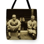 Babe Ruth On Far Left With The Boston Red Sox 1915 Tote Bag
