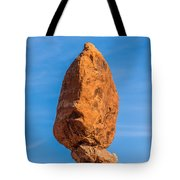 Balanced Rock In Arches National Park Near Moab  Utah At Sunset Tote Bag