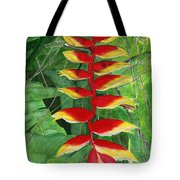 Balinese Heliconia Rostrata Tote Bag