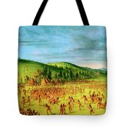 Ball-play Of The Choctaw--ball Up Tote Bag