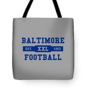 Baltimore Colts Retro Shirt Tote Bag