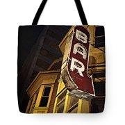 Bar Sign Tote Bag