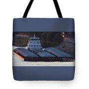 Barge On Mississippi River Tote Bag