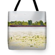Barge On The Dnieper River Tote Bag