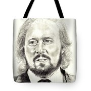 Barry Gibb Portrait Tote Bag