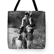 Barry Sadler With Sons And Family Collie Tucson Arizona 1971 Tote Bag