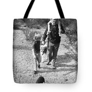 Barry Sadler With Sons Baron And Thor Taking A Stroll 1 Tucson Arizona 1971 Tote Bag